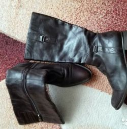 Leather boots.Size 38