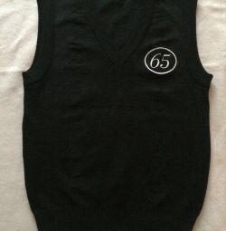 School sleeveless vest for the boy
