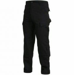 Black pants A.C.U. (Army Combat Uniform).