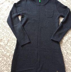 Платье шерстяное бенетон
