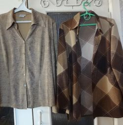 Blouses with long sleeves