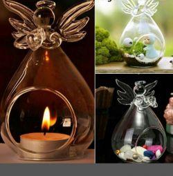 Подарок. вазочки, подсвечники