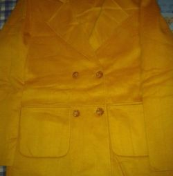 NEW CASHMERE jacket yellow-mustard color