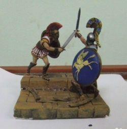 Vignette-diorama - duelul grecilor antice din Sparta
