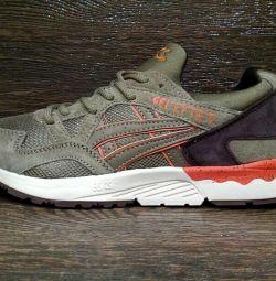 Νέα αθλητικά πάνινα παπούτσια Asix Gel 5 kaki