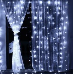Светодиодные новогодние гирлянды шторы