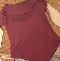 T-shirt με μακριά μανίκια για κορίτσι 134/140