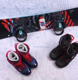 Сноуборд Nidecker 139 см + крепления + ботинки