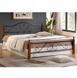 Candy Bed Metal Wood 150x200