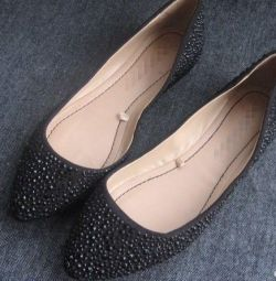 Ballet shoes with rhinestones new