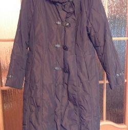 Пальто женское демисезонное, р. 52