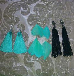 New !!! Earrings-tassels