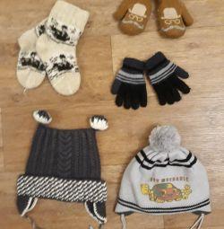 Pălării, mănuși, mănuși, șosete
