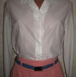 Блуза-рубашка, р.44, винтаж, запонки в подарок
