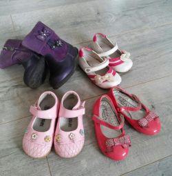 Παπούτσια και μπότες μεγέθους 21-22