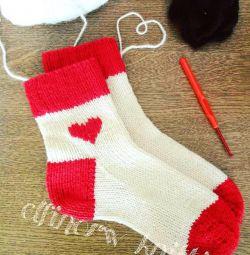 Sosete tricotate