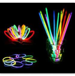 glowing sticks-bracelets 50 pieces