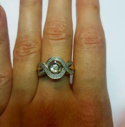 Кольцо с бриллиантами. Золото 585 проба