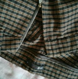 Checkered trousers. Warm. Size M or 44-46