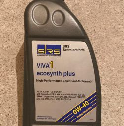 Oil SRS ViVA 1 ecosynth plus SAE 0W-40 1l