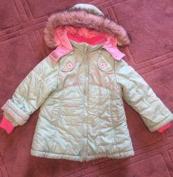 Пальто зимове, куртка подовжена