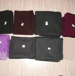 Cuts of fabric wool, cotton