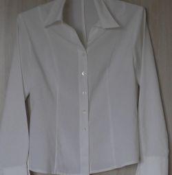 White-milky shirt blouse, r-44 (46)