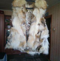 Натуральна жилетка з лисиці