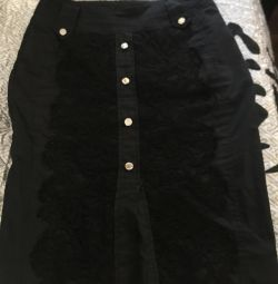 Skirt with embroidery