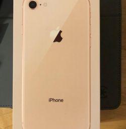 Νέο iPhone 8 (64gb), χρυσό 🔥