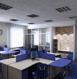 Ofislerin onarımı ve dekorasyonu.