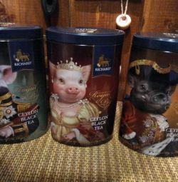 Lăzi metalice pentru ceai sau cafea