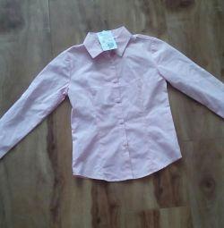 Νέα μπλούζα για κορίτσια 122-128 μεγέθους