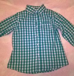 Φωτεινό έντονο πουκάμισο Δεσμευμένο