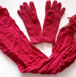 Палантин+перчатки