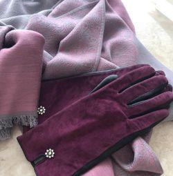 Mănuși pentru eșarfă