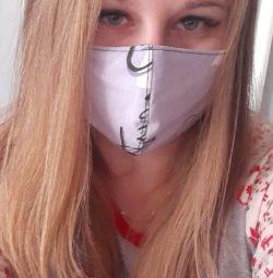 Reusable medical mask purple