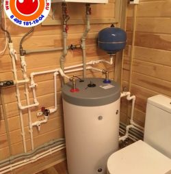 Installation of gas boiler and boiler Indirect heating