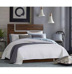 Κρεβάτι Maddison Καφέ με Εκρού Πατίνα 150x192