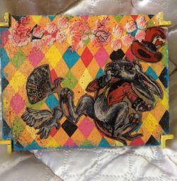 Decoupage Jewelry Box Alice in Wonderland