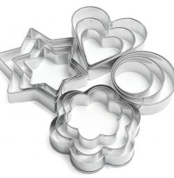 Molds made of stainless steel 12pcs.