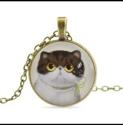 Pendant with cute cat