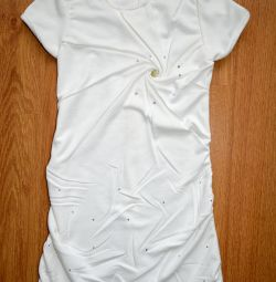 Dress children's summer white, 34 size