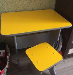 Çocuk masası ve sandalye takımı