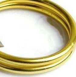Sârma d de 1,5 mm. cârlige de aur.10м