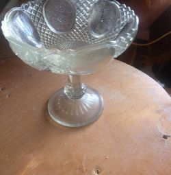 Eski cam reçel vazo