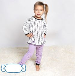 Πιτζάμες για κορίτσια Hearts, hb, Ρωσία