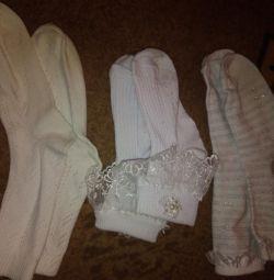Children's socks, white