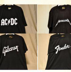 Tricou Gibson / Fender / AC DC / Metallica (M / 48)