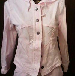Спортивный розовый костюм 44-46